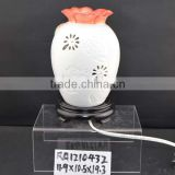 hot sale ceramic electric oil burner with lamp and aromatheraphy function