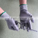 NMSAFETY cut resistant pu coated electrical rubber hand gloves