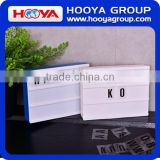 A5 DIY Cinema Light Box Customized Color Mini Plastic Rectangle Led Light Box for Advertising gift