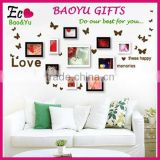 Butterfly love photo wall can remove three generations of wall stickers, kids room decoration 3d wall stickers