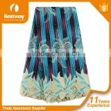 Bestway New arrivals veritable hollandais wax mix lace fabric Hot Selling Ankara Fabric With Guipure Lace BLW020-5