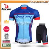 fashion sublimation printing cycling garment sets with gel pad,short sleeve biking clothes for men
