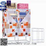 Bedroom furniture storage wardrobe waterproof otobi furniture in bangladesh price non woven folding fabric wardrobe cabinet