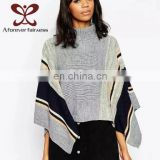 Wholesale Latest Fashion Women Pullover Computer Knitted Jacquard Merino Wool Cashmere Sweater
