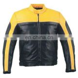 HMB-0477B LEATHER JACKETS MOTORBIKE COATS BLACK BIKER STYLE