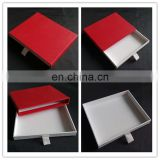 High end bright red surface, full white slide drawer with ribbon tie closure drawer box