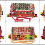 Boho banjara clutch bag- Ethnic bag - Indian mirror bag- Handmade Banjara Clutch Purse Bag-Indian Banjara Clutch Ethnic Bags