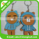 Factory price customed pvc rubber keychain