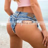Hot sale Summer Ladies Denim Shorts Sexy Nightclub Jeans Denim Shorts Pants Fashion Ladies Skinny Jeans Super Short Pants Bikin