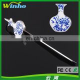 Winho Chinese Style Porcelain Bookmark with High-end Enamel