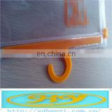hanger hook plastic bags,clear vinyl pvc zipper bags fishing hook plastic bags