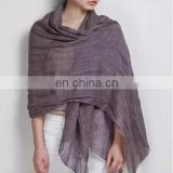 linen scarf 42s fresh comfortable natural scarf good quality single color scarf