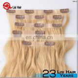 Top Quality No Tangle No Shedding Unprocessed 22 Inches Euronext Remy Clip In Curly Hair Extension