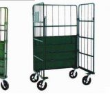 Powder coated metal foldable flexible trolley