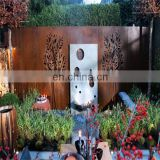Rusty corten steel decorative metal electric light box wall art