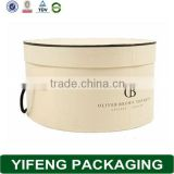 High Quality Gift Paper Packaging Round Hat Box Wholesale With Handle
