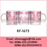 Zibo Made Popular 11oz Straight Porcelain Wholesale Tea Cup with Logo for Promotion Mother's Day Gift