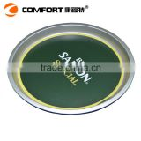2015 hot design plastic round saucer ABS durable food tray