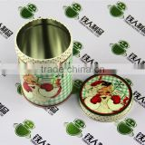 Santa Claus Christmas holiday gift household items coin storage new year gift tin tea box