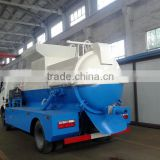 Dongfeng 4x2 garbage truck 4000L waste food compactor truck kitchen truck
