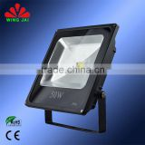 2015 Best quality warranty 3 years slim stainless steel outdoor led flood light 50w