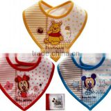 printed tied knitted terry baby bib