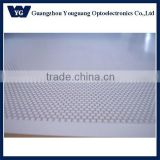 Transparent plastic light diffuser for led panel lighting