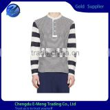 Wholesale High Quality Strip Fashion Pattern Long tshirt for Men