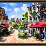 Wall art picture DIY oil painting by numbers oil painting on canvas my town for kids room 5148
