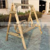Factory Production Wooden Double Hanging Garden Swing Set for adult