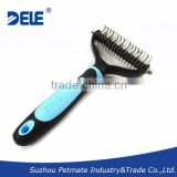 Professional Pet Product Silica Gel Dog Brush for Massage Grooming and Dematting