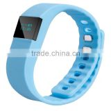 anti-lost calorie counter distance counter sport smart watch silicone smart bracelet TW64