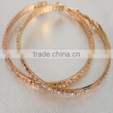 Fashion Jewelry 18K Gold Plated Rhinestone Hoop Earrings                                                                         Quality Choice