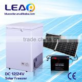 12/24V DC to AC/220V AC Solar Panel Charging Solar Freezer 108L for Home Use