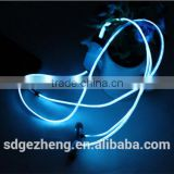 Factory price EL wire earphones lighting with rhythm of music led headphones with microphones blue green multi color