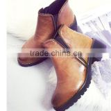Black wood sole patent leather military boots ladies cool wholesale boots