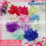 Artificial high simulation hydrangea flower head for Diy flower ball wedding bride bouquet