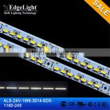 Edgelight hot sale 24V factory price high quality smd 3014 led strip 1180 mm cheap Led light bar aluminous PCB Strip