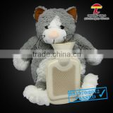 500ml fat cat hot water bottle animal cover