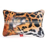 Leopard left eye leather throw pillow decorative with insert                                                                                                         Supplier's Choice