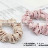 fancy elegant of white satin scrunchies hair accessories for ladies