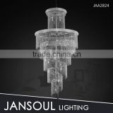 big size classic crystal beaded droplet chandelier for staircase