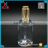 Essential oil 50ml european high white clear dropper glass bottles with gold press dropper                                                                                                         Supplier's Choice