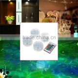 10 LED Multicolor Submersible Waterproof Party Floralytes Vase Base Light Lamp Blub Remote with 1 Controller for Wedding Party