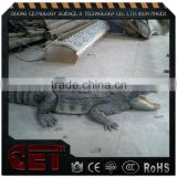 animated crocodile statue fiberglass animal figurines high simulated animal sculpture for Zoo