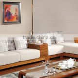 Middle east style living room furniture l shape sofa with cheap price and white color GZH-SK03                                                                         Quality Choice