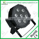 Professional Indoor and outdoor CE ROHS Approved 7pcs 10W RGBw 4in1 Led Flat Full Color Par Lights