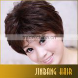 Short Kind Synthetic Black Brown Color Loose Wave Hair Wig For Woman