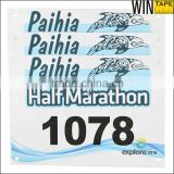 Number Colorful 1 to 1000 Waterproof Printable Sport Marathon Custom Tyvek Running Bibs For Races
