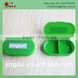 Promotional plastic oval shaped medicine storage pill box In 2 case                                                                         Quality Choice